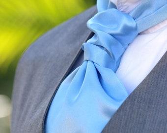 Wedding Mens Ascot Blue Mens Cravat Day Cravat Ascot Tie