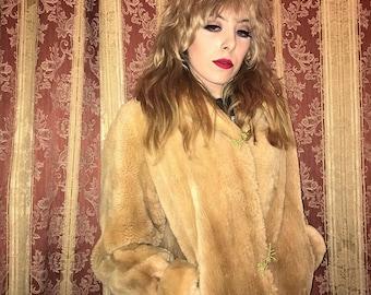Vintage brown 60s fur coat