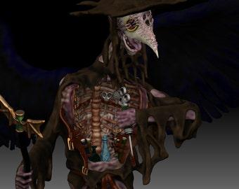 3D Digital Model File Winged Plague Doctor