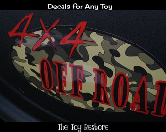 Camo 4 x4 Off Road : New Replacement Decals Stickers fits Step 2 , Little Tikes, Cars, Trucks, Vehicles