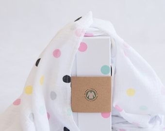 Emma Brooke Design, Large Baby Swaddle Blanket, GOTS Organic Muslin Cotton, Baby Wrap, Receiving Blanket, Baby Gift, Pram & Nursing cover