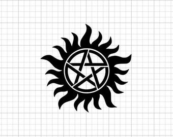 Supernatural Symbol Etsy