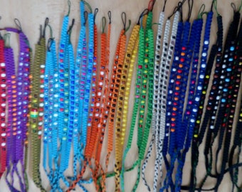 Light blue Braided bead bracelets