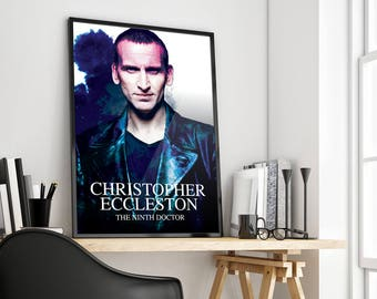 Christopher Eccleston | Doctor Who | The Ninth Doctor | Poster Print Design | A0 A1 A2 A3 A4