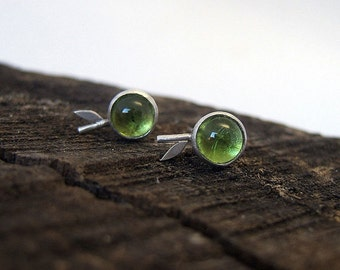 Sterling Silver Peridot Stud Earrings