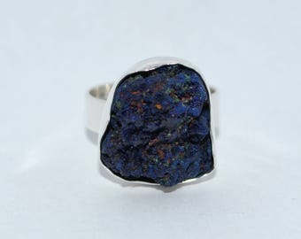 Adjustable Ring Azurite