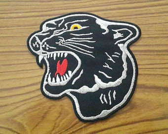Black Panther Applique Embroidered Iron on Patch