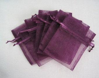 12 x 14 inch Dk Purple Organza Bags 10 pcs per package