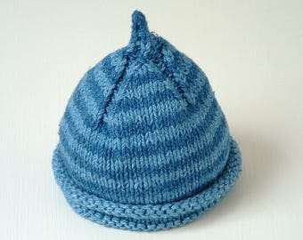 NEW! In The Round and Flat Knitting instructions - KNITTING PATTERN - 0 to 5 years - Classic Pixie Beanie