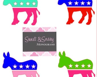 Democratic Donkey Car Decal, Democrat Sticker