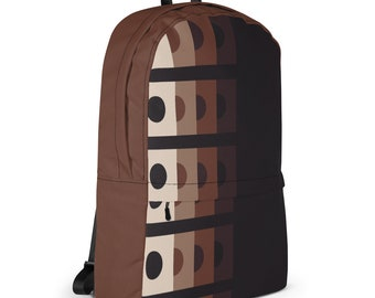 Geometric Style Backpack, Shades Of Brown & Cream, Lightweight Laptop Bags, Trendy Bags, Cycle Bags, Gym Bags, Lifestyle Accessories