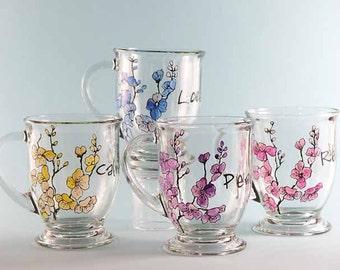 Inspirational Coffee Mugs, Hand Painted Coffee Mugs, Cherry Blossom Mugs, Personalized Mugs, Sold Separately