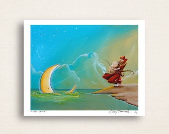 The Catch - gone moon fishin - Limited Edition Signed 8x10 Semi Gloss Print (4/10)