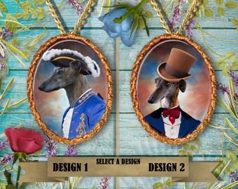 Spanish Greyhound Galgo Espanol Jewelry/Pendant/Brooch/Necklace/Ceramic Handcrafted/Custom Dog Jewelry By Nobility Dogs