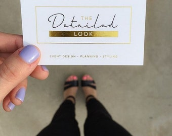 Gold Business Cards, Foiled Cards
