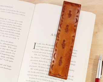 Treble Clef Bookmark Leather Bookmark Piano Player Gift Music Note Bookmark Music Bookmark Music Gift Piano Teacher Gift For Musician
