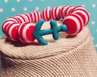 Anchor Stripe Bracelet
