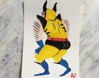 Beautiful Wolverine Painting