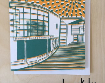 Dundee Contemporary Arts Greetings Card / Dundee Delights / Blank Card / Birthday Card / Dundee Art / Marrs Green / Architecture /