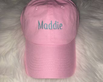 Custom Embroidered Hat-Dad hat, Embroidered hat, Embroidered dad hat, Personalized hat, Monogrammed hat, CUstom Name Hat, Name Dad Hat