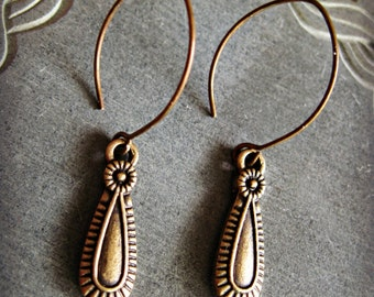 BINDI Earrings dangle bohemian antiqued tribal old world minimal jewelry