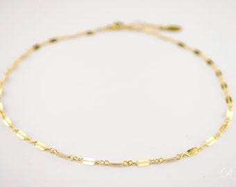 Lace Choker Necklace, Dainty Gold Chain Choker Necklace, Chain Choker, Gold Choker, bohemian Choker, tattoo Choker, Christmas gift for her