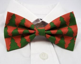 Christmas Trees Bow Tie, Xmas Bow Tie, Tree Bow Tie, Christmas Bowtie