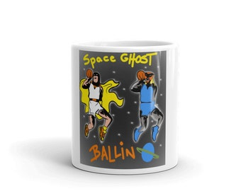 Space Ghost Balling Basketball Coffee Mug