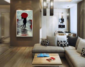 Red Autumn Rain Romance