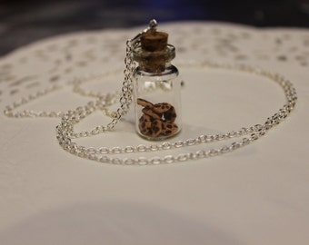 Miniature Chocolate Chip Cookies in a Jar Polymer Clay Necklace