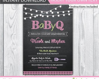 Etsy your place to buy and sell all things handmade bbq baby shower invite bbq baby shower invitation baby shower bbq invitation couples baby shower bbq babyque invitation instant filmwisefo