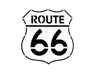 Historic Route 66 Reusable Stencil - Multiple Sizes Available