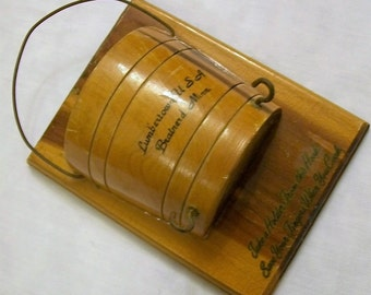 Vintage Wooden Pot Holder Hanger, Souvenir, Tourist Souvenirs, Potholder Hanger, Wood Wall Hanging, Vintage  Kitchen