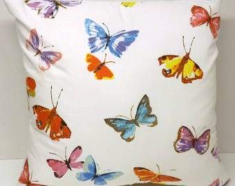 Watercolour Butterfly Cushions with Fillers Various Sizes 28cm , 36cm, 43cm , 60cm