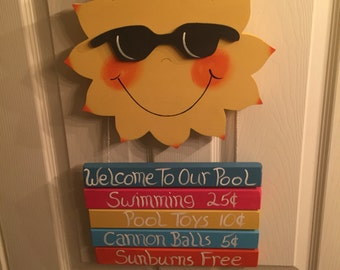 Welcome to our Pool Sign