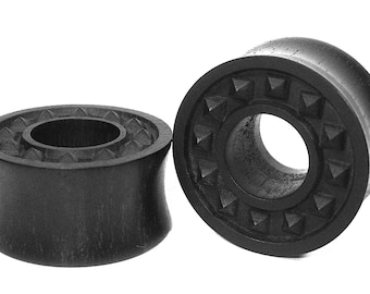 Nordic Ebony black Ear Tunnel 01 Handmade Gauges/Stretchers/Custom Made Ear Tunnels sizes10mm-40mm