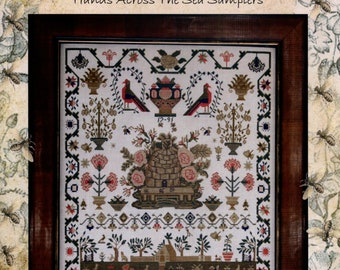Hands Across The Seas: Miss Mary Ann Bournes 1791 - Cross Stitch Pattern