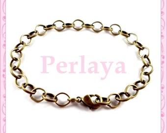 12 REF259 bronze metal chain bracelets