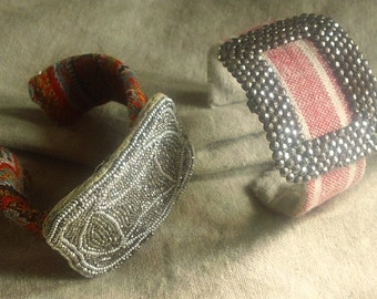 OOAK Made To Order Cuff Bracelet, Choose your fabric and buckle, adornment, Jewelry gift for her, Bridesmaid Gift