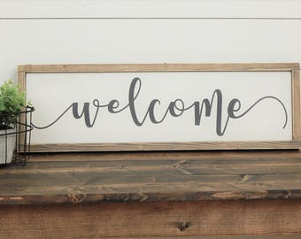 Welcome Sign, Rustic Welcome Sign, Wood Welcome Sign, Rustic Wood Decor, Rustic Wood Sign, Farmhouse Sign, Farmhouse Style Sign, Wood Sign
