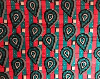 Ankara fabric, Dutch Wax Cotton, Veritable Block Wax Print, African Ankara, African Material, Blue and Pink ankara sold by the yard