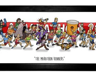 The Marathon Runners - Original artwork