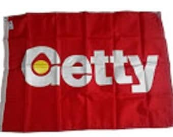 Vintage Getty Flag from the 1980's