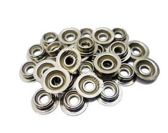 Press Studs - Size 15mm - Silver Heavy Duty Press Studs Snap Fasteners Poppers (Stud Only)