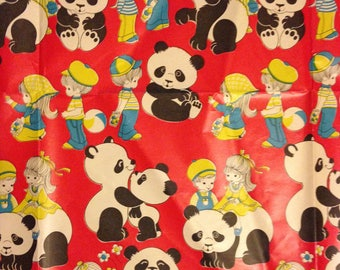 Panda Children's All Occasion Gift Wrap