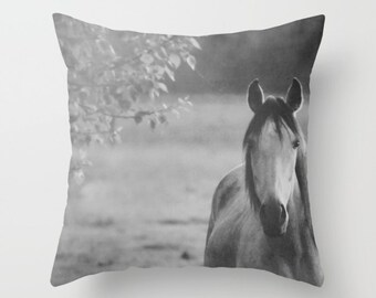 Throw Pillow Case, Horse, Nature, Home Decor, Photography by RDelean Designs