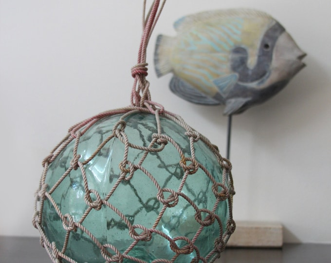 """Vintage Japanese Glass Fishing Floats 9-10"""" Nautical by SEASTYLE"""