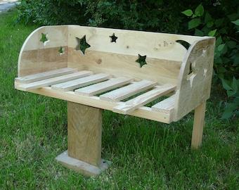 crib cosleeping theme wooden stars and moon