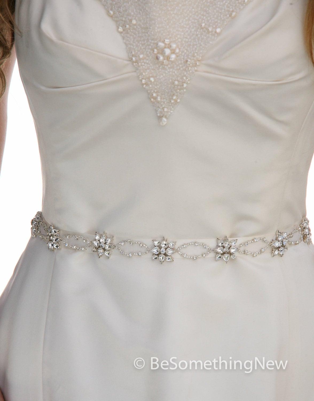 Schmale Strass Hochzeit Kleid Schärpengürtel oder Stirnband