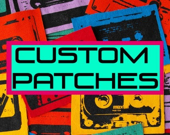 Need Custom Patches? Custom Patch personalized christmas gift screen print patches screenprint portraits screen printed pet portrait family
